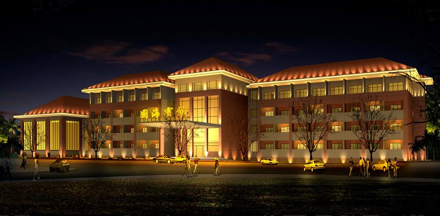 国海宾馆夜景亮化工程